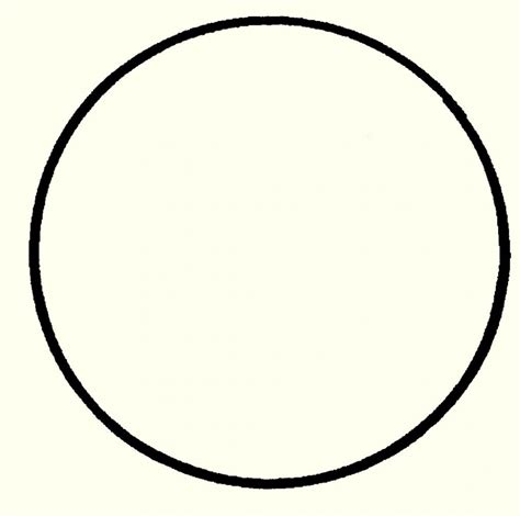 Free Printable Circle Template Word