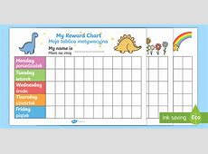 My Reward Chart Pack EnglishPolish My Reward Chart Reward