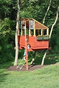 Baumhäuser Für Kinder : die besten 25 stelzenhaus selber bauen ideen nur auf pinterest spielturm selber bauen ~ Eleganceandgraceweddings.com Haus und Dekorationen