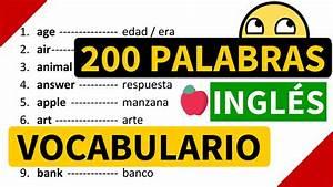 200 Palabras Importantes En Ingl U00e9s Y Su Significado En