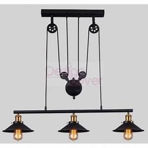 Suspension Luminaire Industriel : suspension triple design industriel avec poulie par pottery barn design par livraison ~ Teatrodelosmanantiales.com Idées de Décoration