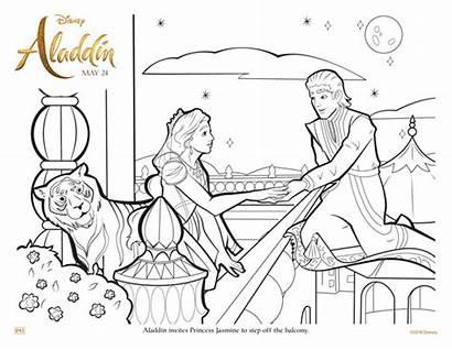 Aladdin Coloring Jasmine Princess Carpet Magic Activity