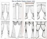 Curtains Curtain Window Drawing Classical Treatments Valance Drapery Valances Drapes Then History Classic Drawings Porter Dec Swags Dressing Pelmets Crazy sketch template