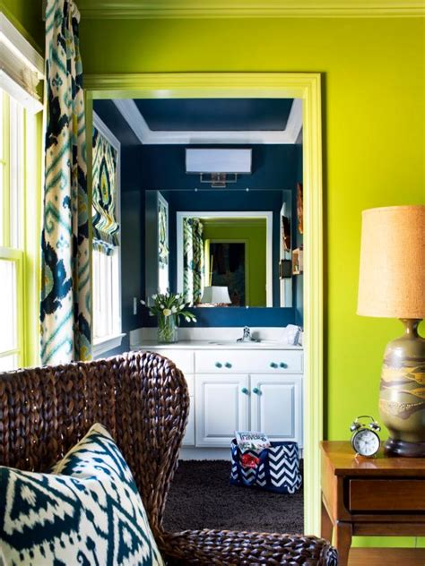 bold  trendy small bathroom makeover hgtv