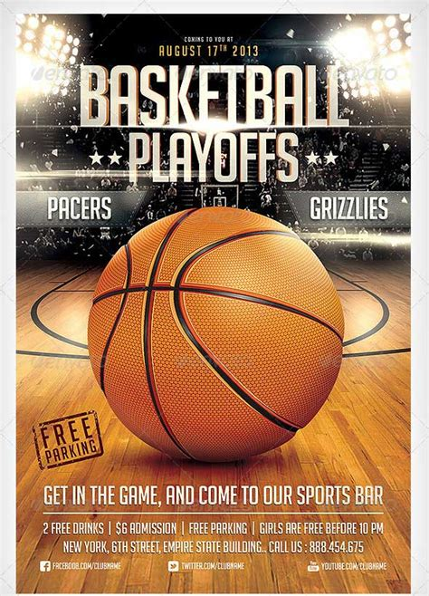 basketball flyer templates excel  formats