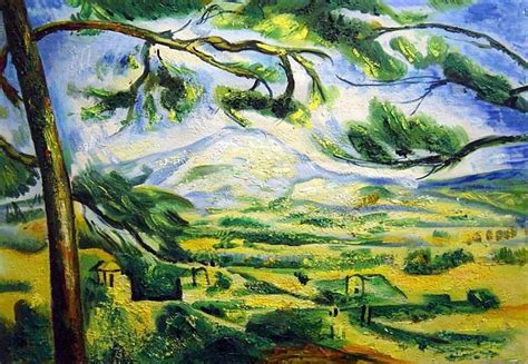 mont sainte victoire with large pine painting wall oilpainting shopping for cheap