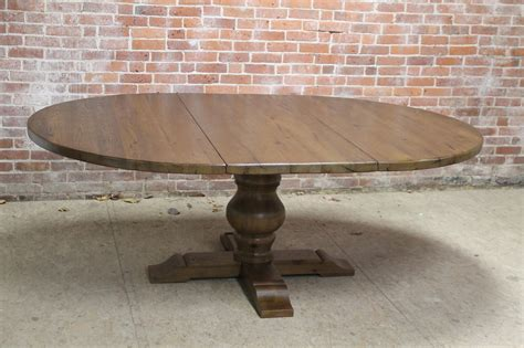 Chestnut Pedestal Table With Extension