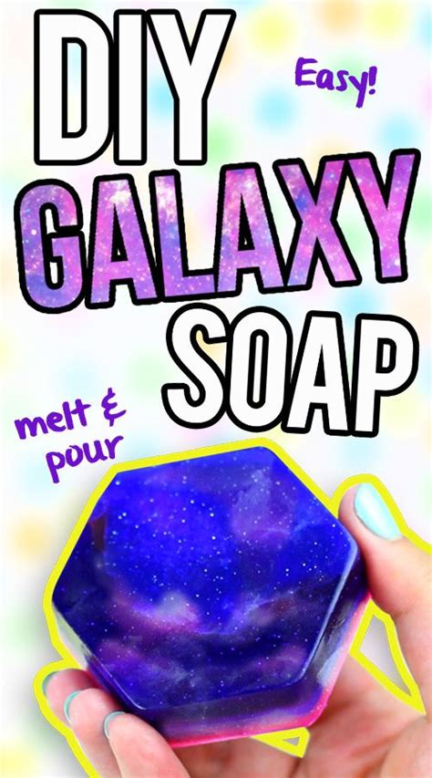 easy diy soap diy galaxy soap easy melt pour soap tutorial click here to learn how to make it https www