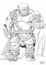 Coloring Dnd Pages Ogre Printable Drawing Paper Puzzle Crafts sketch template
