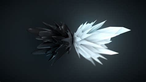 Abstract Black And White Wallpaper 1920x1080 by Abstract 3d Render Black White Artwork Digital