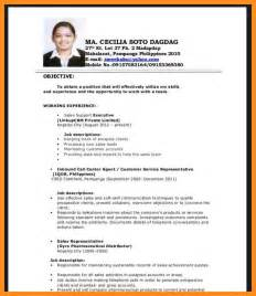 graduate resume objective template exles 28 images doc