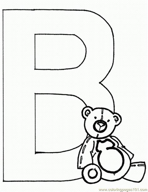 letter b coloring pages preschool and kindergarten 176 | free letter b printable coloring pages for preschool bear.bear