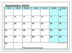 Calendario septiembre 2019 59LD