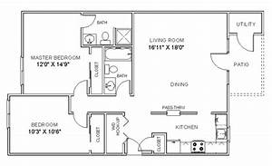 cheap 2 bedroom apartments 2 bedroom apartment floor plan With plan for two bedroom flat
