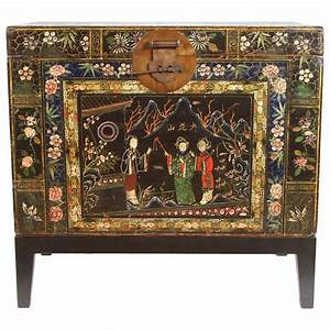 19th Century Chinese Painted Chest For Sale At 1stdibs