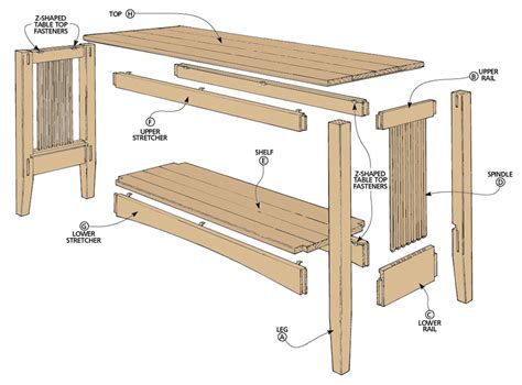 loveseat plans oak sofa table