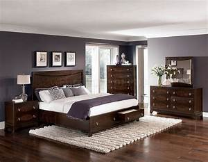 Warm, Brown, Cherry, Finish, Traditional, Bedroom, W, Storage, Footboard