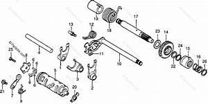 Honda Motorcycle 1982 Oem Parts Diagram For Shift Fork