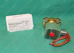 Asco  8210g094  Two 2 Way Solenoid Valve Brass New