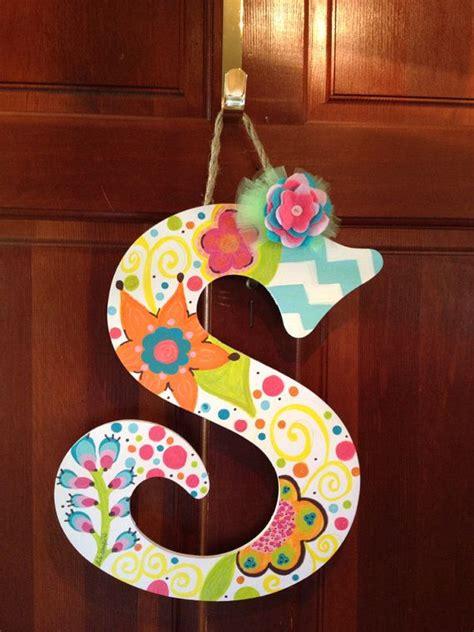 initial door hanger  etsy  initial door hanger letter door hangers door decorations