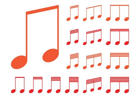 musical notes graphics   vector art stock