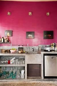 Pinke wand in der kuche sieht super aus a interior design for Pinke küche