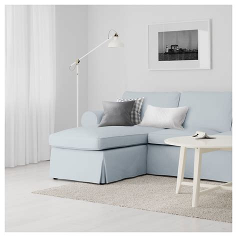 two seat sofa and chaise longue ektorp two seat sofa and chaise longue nordvalla light blue ikea