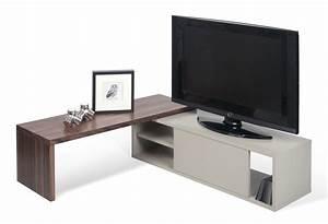 Tv Möbel Drehbar : erweiterbares tv m bel slide von pop up home grau nussbaum l 110 x h 12 made in design ~ Orissabook.com Haus und Dekorationen