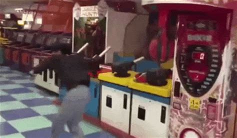 dude kills arcade machine  badass spinning kick