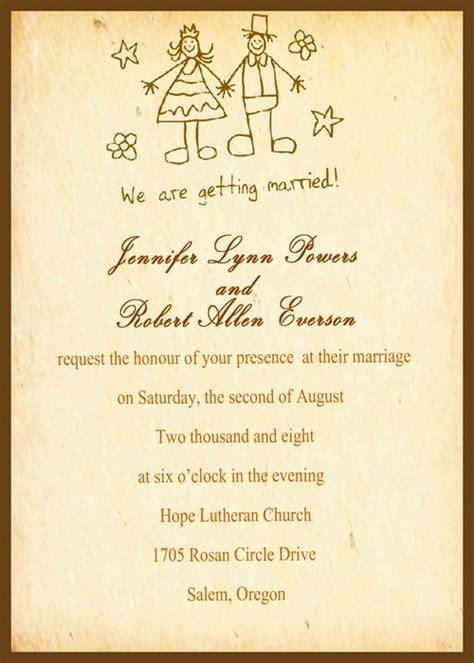 funny wedding invitations  simply