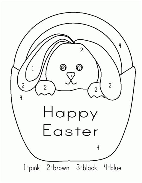 Easter Color By Numbers  Best Coloring Pages For Kids