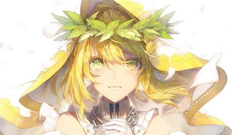 wallpaper saber bride nero claudius blonde face