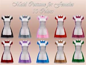 NotEgain: Maid Costume - new mesh • Sims 4 Downloads
