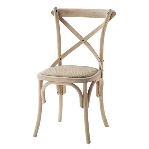 chaise en rotin et bouleau tradition maisons du monde