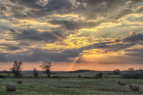 sunset   hungarian great plain sunset nature