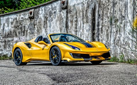 The most important thing is that 488 in launch control mode revs higher and has better acceleration above 100 km/h than during normal acceleration so either spider is significantly slower. Download wallpapers Ferrari 488 Pista Spider, 2020, exterior, yellow sports coupe, new yellow ...
