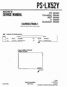 Sony Ps-lx52  Ps-lx52p Service Manual