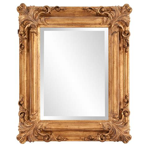 martha stewart living wales 30 in 30 in metal gold framed mirror 72930 the home depot