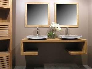 Indogate meuble salle de bain bois exotique avec 3 design for Salle de bain design avec décoration de table exotique