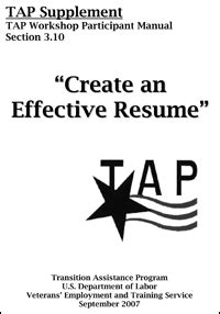 converting experience to a civilian resume at