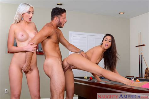 Brunette Anna Morna Fucking In The Pool Table With Her Tits