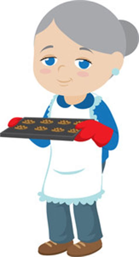 grandma baking cookies clipart clipground