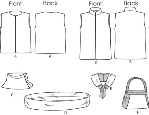printable vest pattern printable  degree