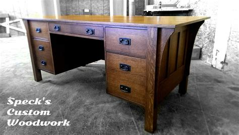 mission style home plans made stickley executive desk by speck custom woodwork