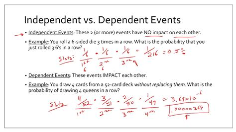 Algebra 2  105  Probabilities Of Independent And Dependent Events Youtube