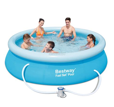 Bestway Fast Set Swimming Pool Round Inflatable 10ft X