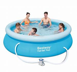 Bestway Pool Set : bestway fast set swimming pool round inflatable 10ft x 30inch with filter pump ebay ~ Eleganceandgraceweddings.com Haus und Dekorationen