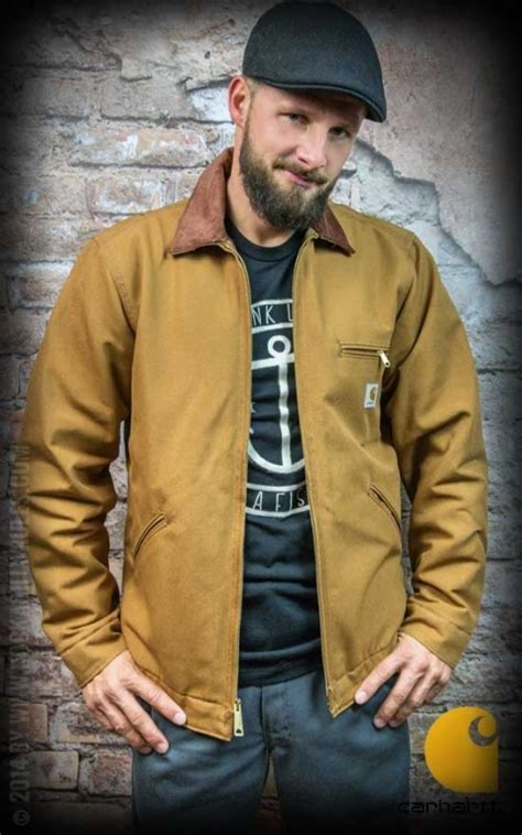 Carhartt Jacket Duck Detroit, brown   Rockabilly Rules