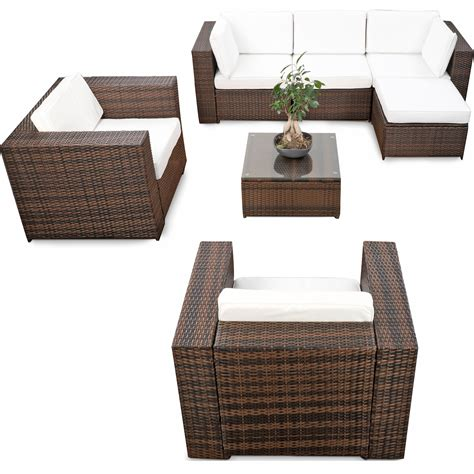 polyrattan lounge set günstig 21tlg poly rattan lounge m 246 bel set g real