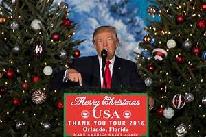 President Trump gives speech about Christmas and birth of ...